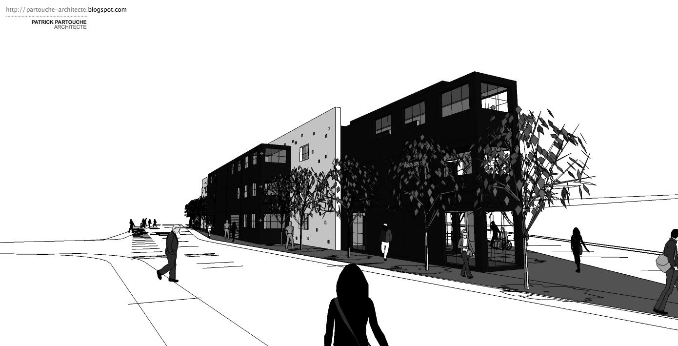 Patrick partouche immeuble de bureaux containers for Immeuble bureau