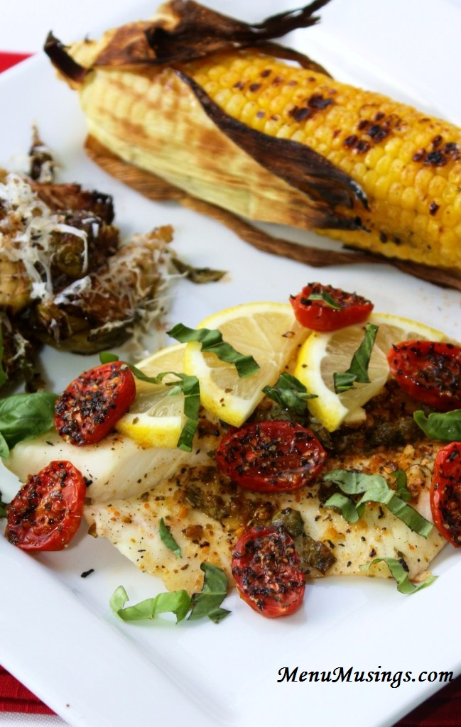 ... of a Modern American Mom: Grilled Tilapia with Lemon Basil Vinaigrette