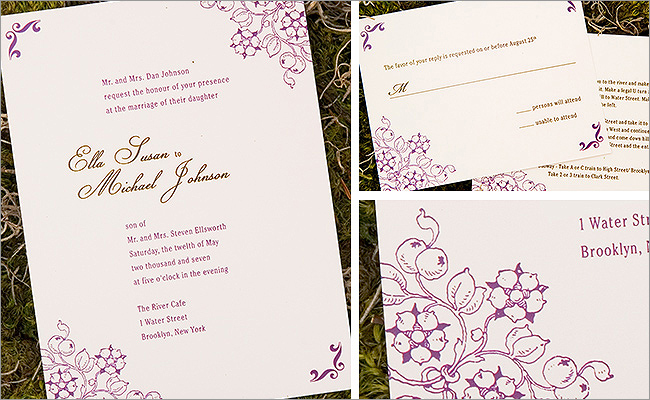 Offset printing invitation