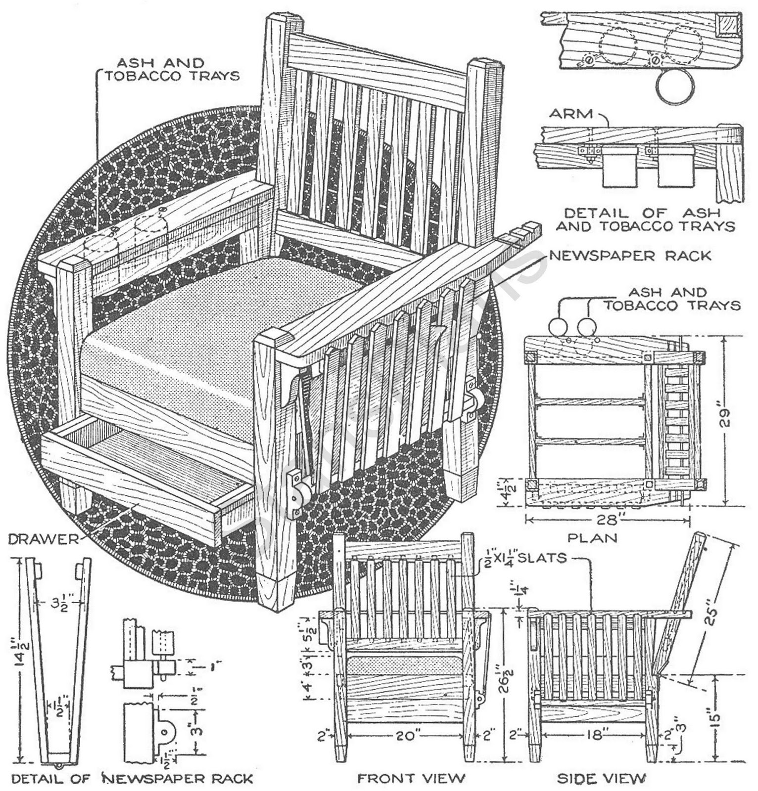 Wood Working Plans , Shed Plans and more: Morris Chair Plan
