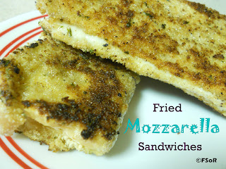 Fried Mozzarella Sandwiches | Just when you think a grilled cheese couldn't get any better - dip it in egg and seasoned bread crumbs and fry that baby up! #recipe