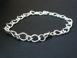 biżuteria z półfabrykatów - koral z łańcuszkiem (bransoletka)