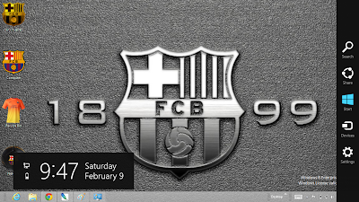 FC Barcelona 2013 Theme For Windows 8