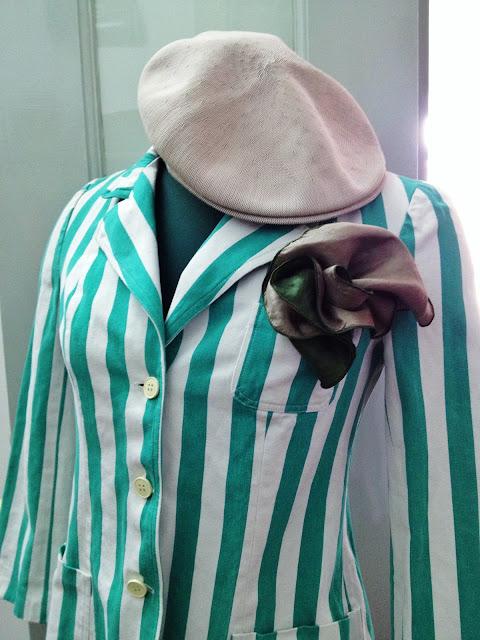 casaco de riscas anos 70