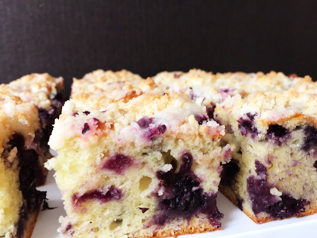 Lemon Blueberry Crumb Tea Cake