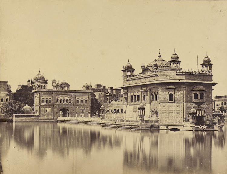 The Golden Temple at Amritsar, Punjab - Albumen silver print c1860's