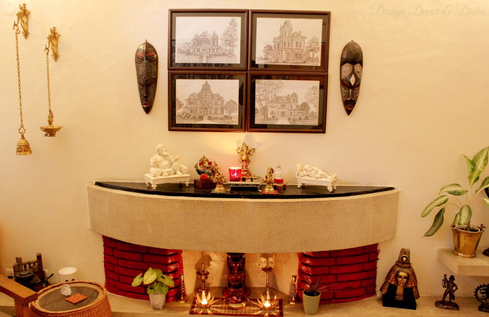 Living room decorating ideas indian style for Home decorations india