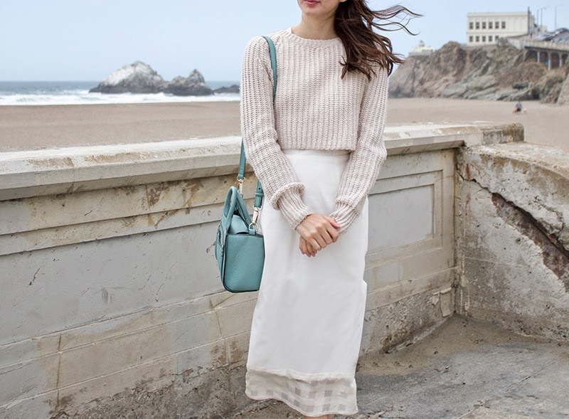 alyssa nicole, designer, san francisco blogger, fashion, sf style, denim dress, white denim, white dress, san francisco summer, urban outfitters, kate spade, couture, kate spade sandals, kate spade purse,
