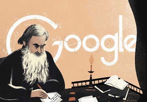 Doodle Google Hari Ini Ulang Tahun ke-186 Leo Tolstoy