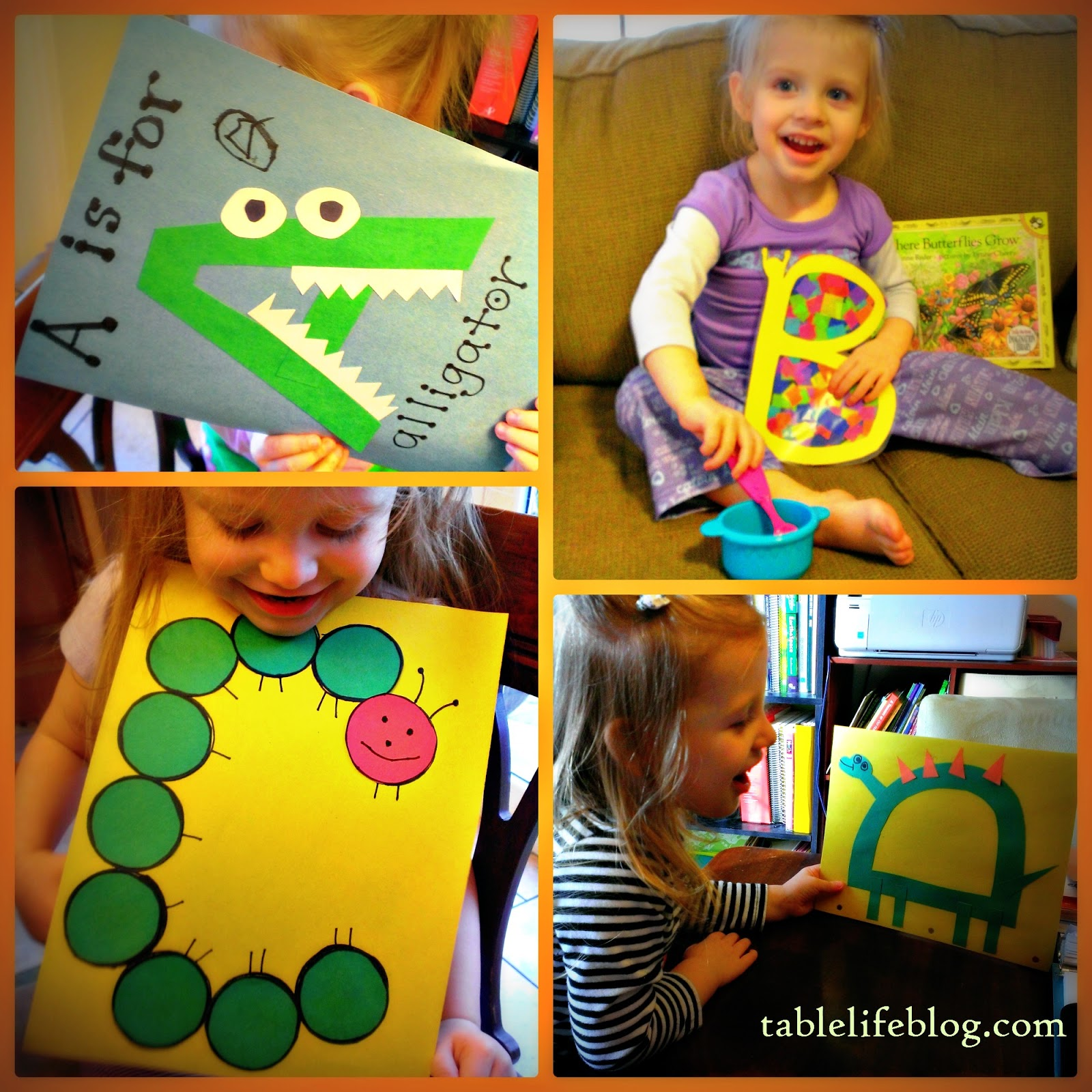 Letter of the Week Review a b c d preschool early learning homeschool