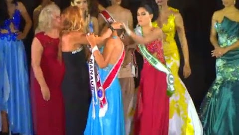 Finalista le arranca la corona a Miss Universe Amazonas 2015