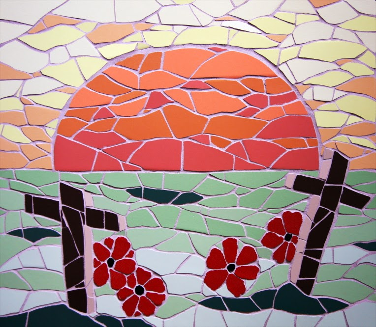 Image result for Remembrance Day mosaic art