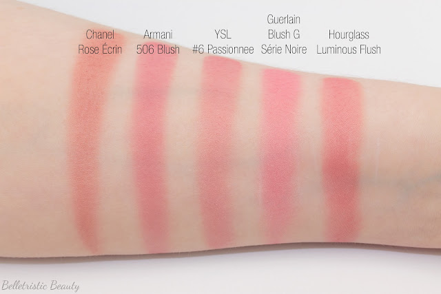 Yves Saint Laurent YSL #6 Passionnee Blush Volupté Heart of Light Powder Blush swatch comparison Fall 2014