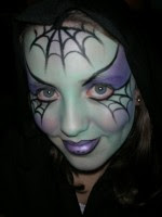Halloween_Face%2BPainting_by_Annie_D_Spider_Web_Design