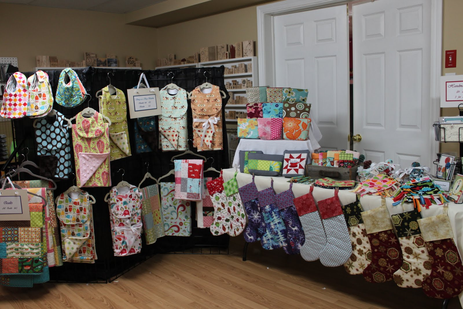 Stamp stitch create craft show display for Quilt and craft show