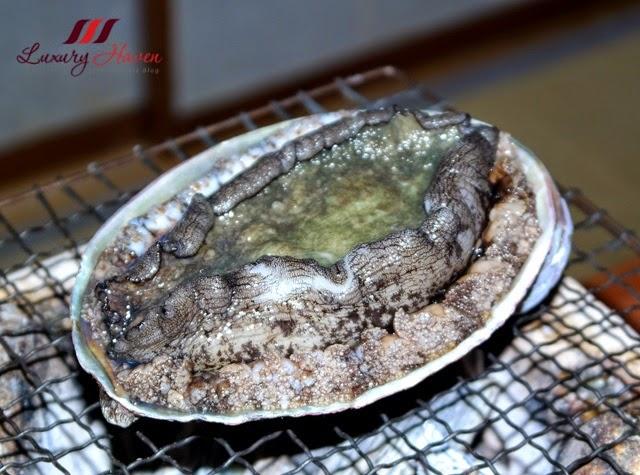 japanese dining akasaka kitafuku live abalone awabi
