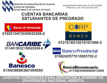 CUENTAS BANCARIAS DE LA UNA