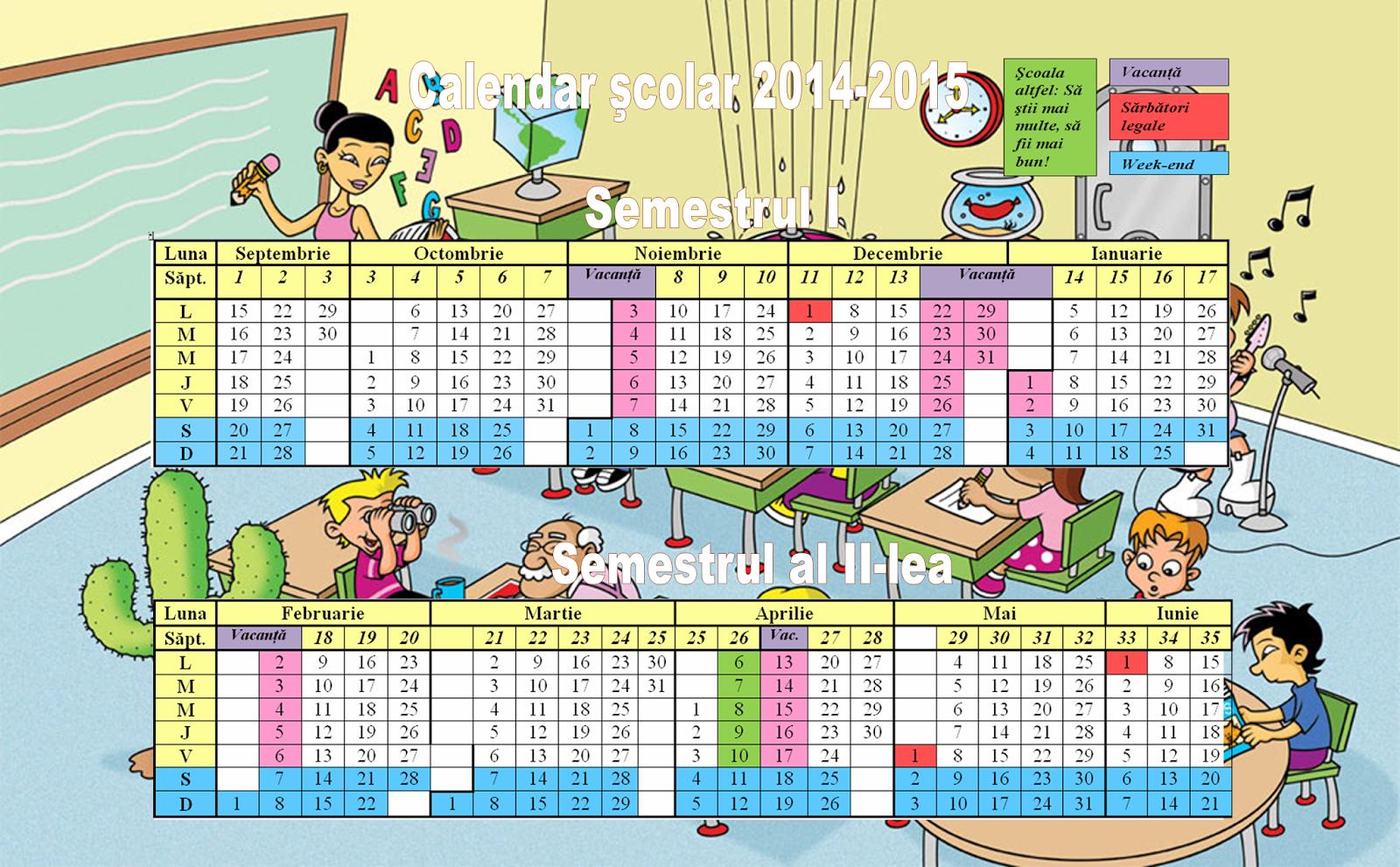 Calendar Pe Saptamani 2016 | Search Results | Calendar 2015