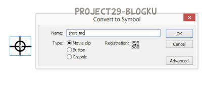 Mengconvert objek ke movie clip