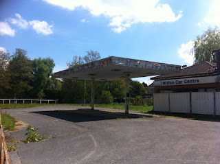 Abandoned petrol station, Milton Lilbourne, Wiltshire