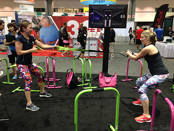 BlogFest, Fitness Expo, Lebert, Partner Exercises