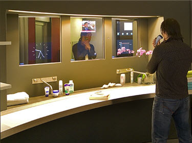 Future is now domotique robotique for Miroir salle de bain high tech
