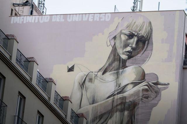 South African Painter Faith47 Newest Mural On The Streets Of Malaga, Spain For Maus Malaga Urban Art Festival. 1