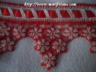 Havlu kenarı dantel modeli