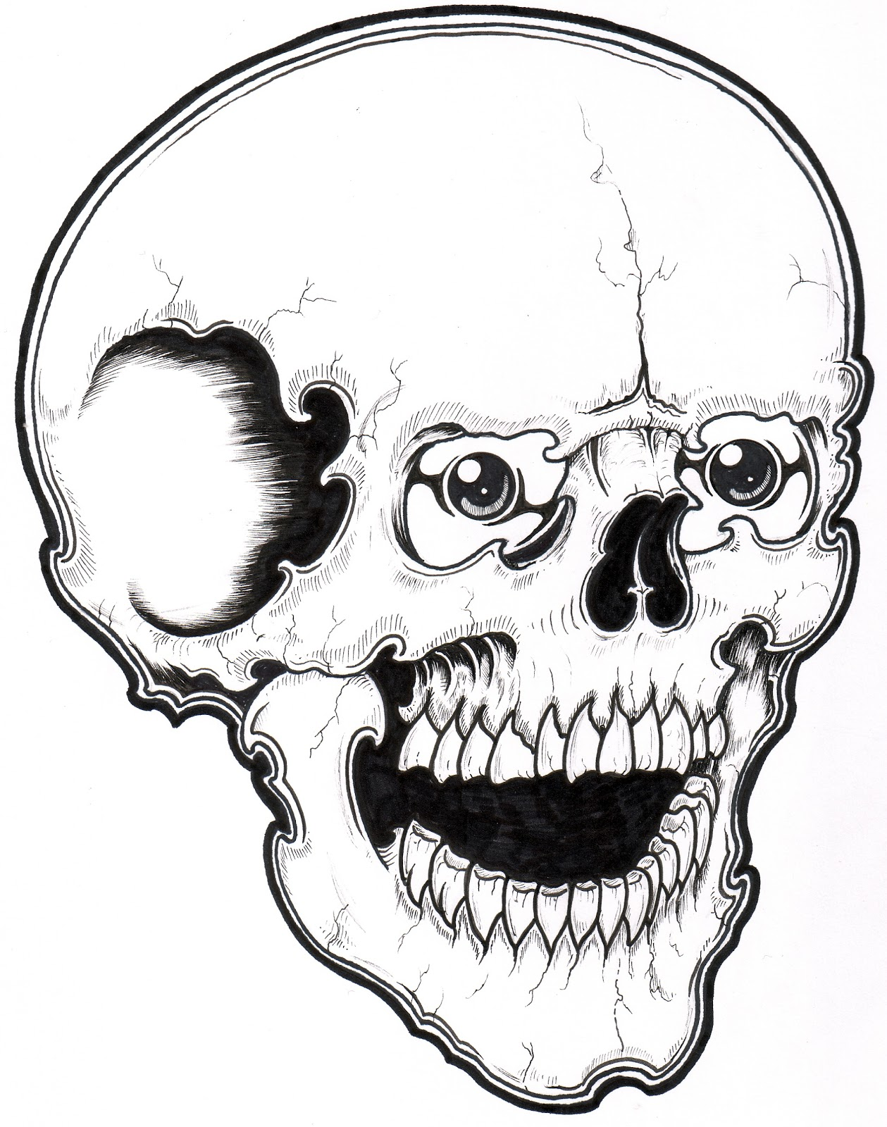 Halloween colorings for Skull coloring pages to print