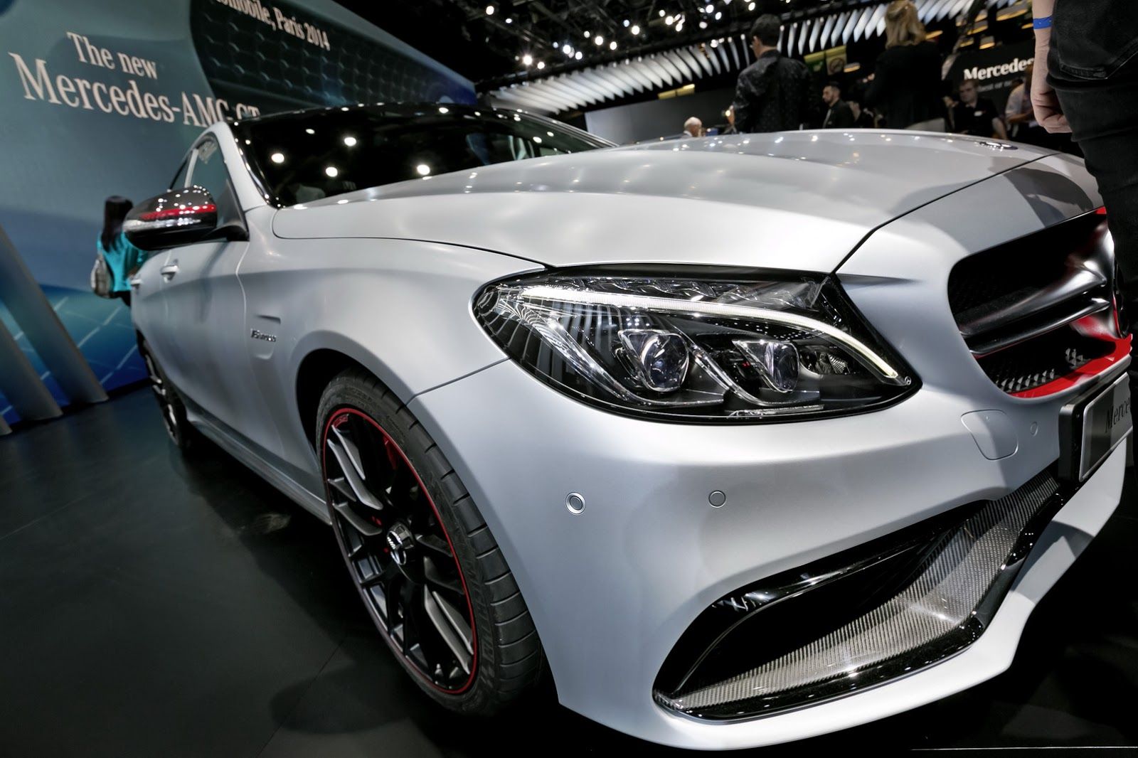 New mercedes amg c63 edition 1 shows its red lace in paris for How much is a mercedes benz c63 amg
