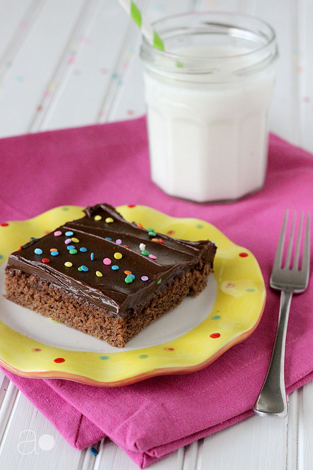 ambrosia: Chocolate Sheet Cake with Fudge Frosting
