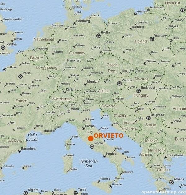 Orvieto Położenie
