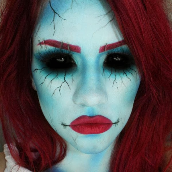 18 examples of incredibly impressive halloween makeup to creep you out amazing facts - Sally Nightmare Before Christmas Makeup