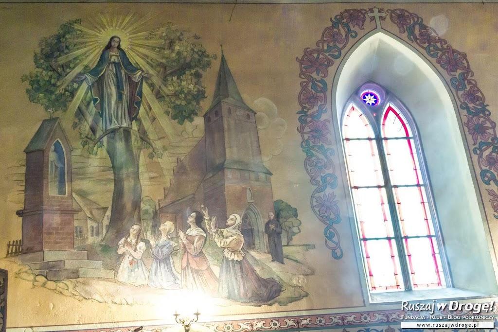 Malowidło w Bazylice NMP w Gietrzwałdzie