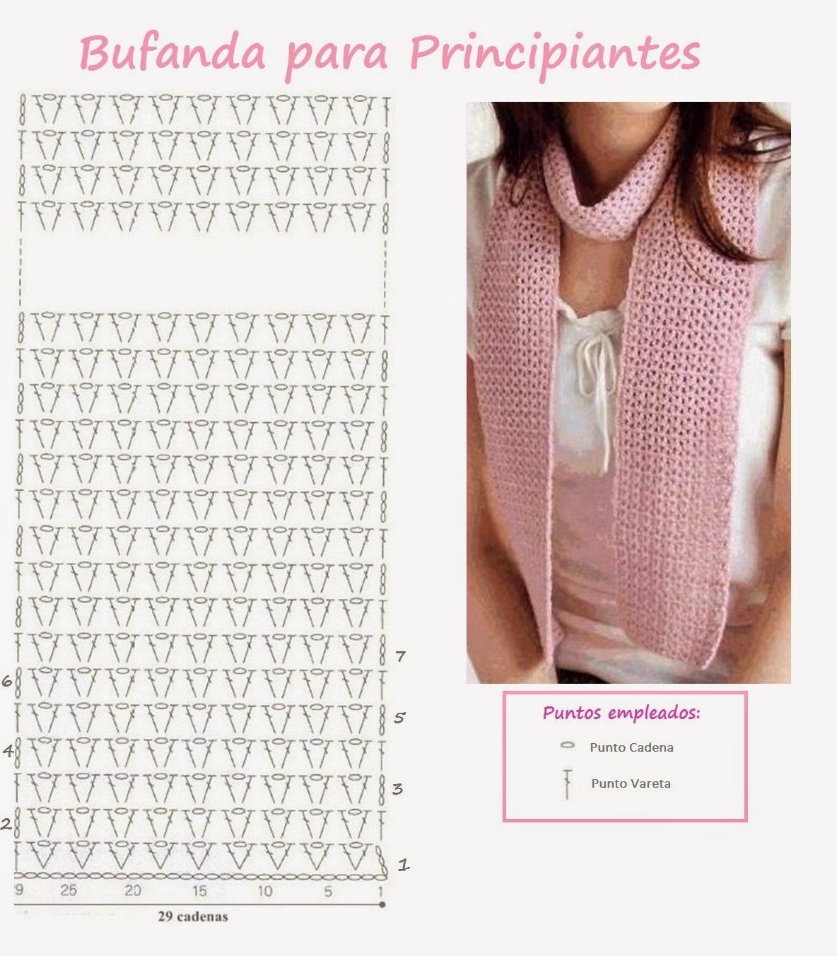 Bufandas al Crochet | El balcon de violeta