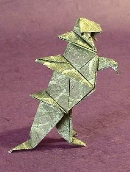origami godzilla maekawa viva 3d easy instructions to