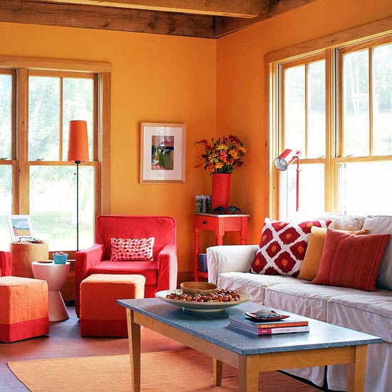 Decorating With Colour: Elite Decor: 2015 Decorating Ideas With Orange Color