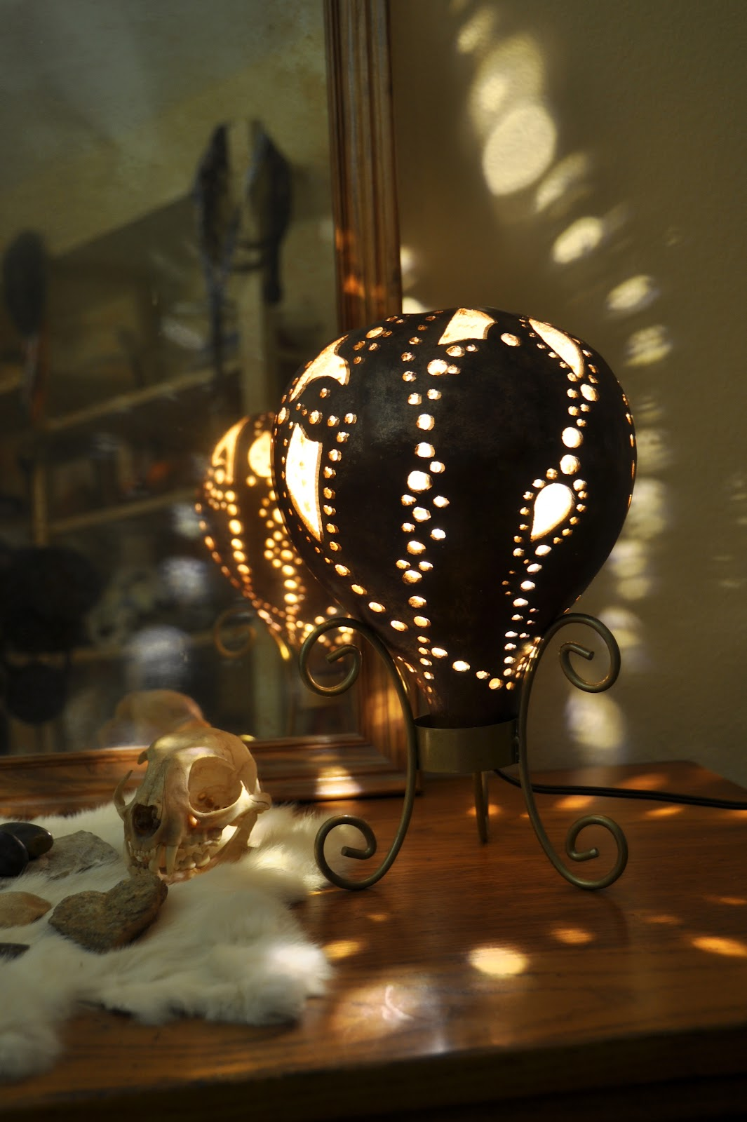Creative Daze with Geri Gourd Lamp by Geri