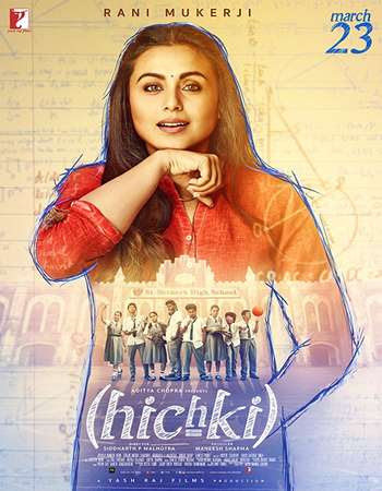 Poster Of Hindi Movie Hichki 2018 Full HD Movie Free Download 720P Watch Online
