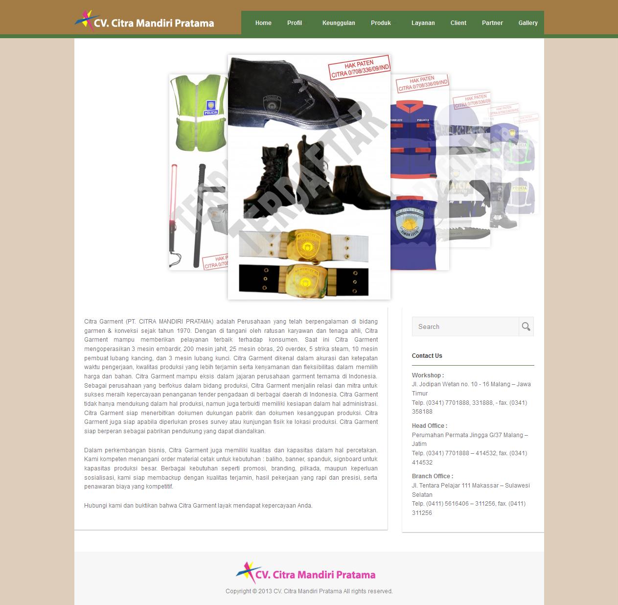 Contoh - Contoh Desain Website Company Profile