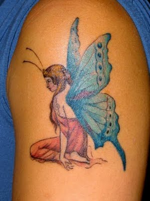 pray fairy tattoo