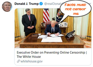 """Donald Trump: """"Facts must not censor me."""""""