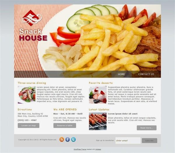 Snack House - Free Wordpress Theme