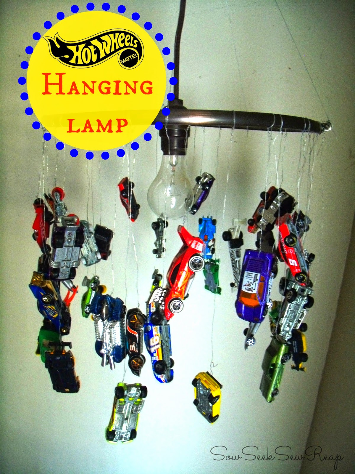 HOT WHEELS LAMP, DIY LAMP