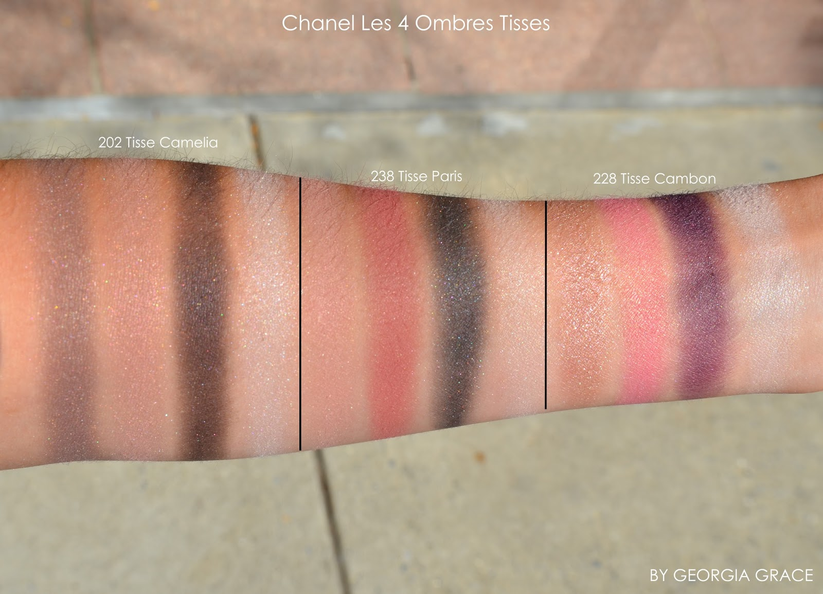 Chanel Les 4 Ombres Eyeshadow Quads Swatches of All Shades ...