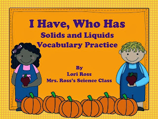 http://www.teacherspayteachers.com/Product/I-Have-Who-Has-Solids-Vocabulary-Practice-970488