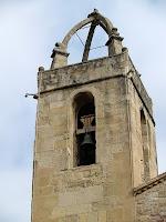 El campanar de l'església de Sant Fruitós de Bages