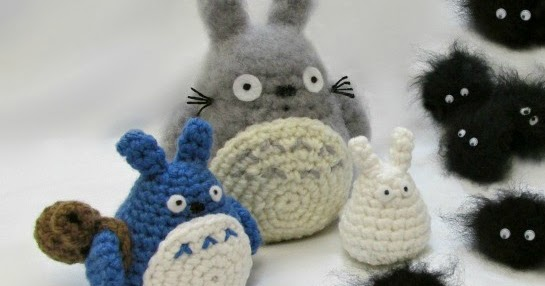 Free Amigurumi Wedding Couple Pattern : Totoro and Soot Sprites Free Pattern With Video ...