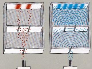experimento doble rejilla rendija ranura foton onda corpuscula 1801 cuantica fisica verfractal