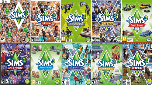 Sims 3 All Expansions and All Stuff Packs